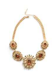 Zana West Crystal Statement Necklace - Front cropped