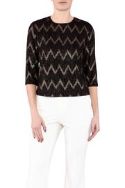 Zanzi Chevron Crop Top - Product Mini Image