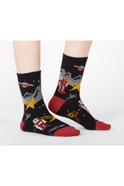 Sock it to me Zap! Zap! Crew Socks - Product Mini Image