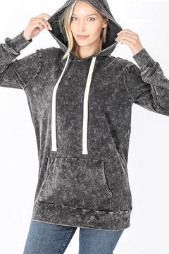 Zeana Outfitters Black Charcoal Wash Hoodie - Product List Image