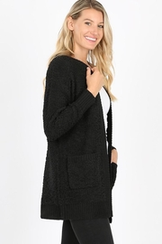 Zeana Outfitters Black Comfy Pocket Cardigan - Front cropped