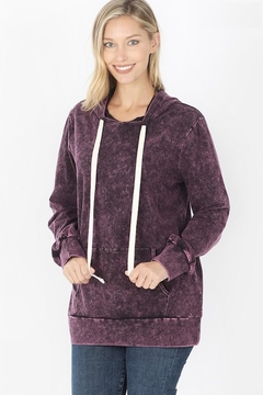 Zeana Outfitters Blackberry Wash Hoodie - Product List Image
