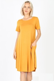 Zeana Outfitters Comfy Mustard Anywhere Pocket Dress - Product Mini Image