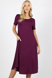 Zeana Outfitters Plum Comfy Pocket Dress - Product Mini Image