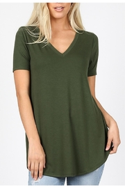 Zeana Outfitters V-Neck Tee - Army Green - Product Mini Image