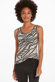 Nic + Zoe  Zebra animal print sweater tank - Product Mini Image