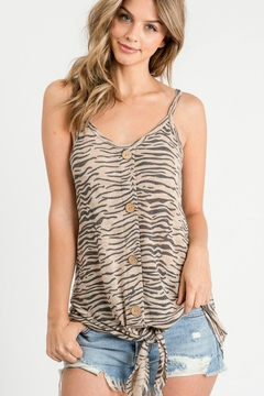 First Love Zebra Knit Top - Product List Image