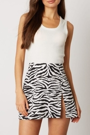 Cotton Candy Zebra Mini Skirt - Product Mini Image
