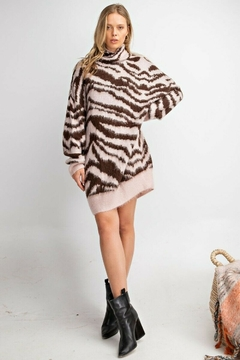 easel  Zebra Mohair Sweater - Product List Image
