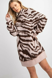 easel  Zebra Mohair Sweater - Side cropped