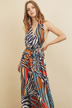 dress forum Zebra Patchwork Halter Dress - Product List Image