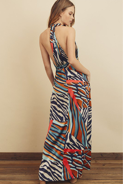 dress forum Zebra Patchwork Halter Dress - Alternate List Image