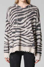 FATE by LFD Zebra Patterned Hoodie Sweater - Product Mini Image