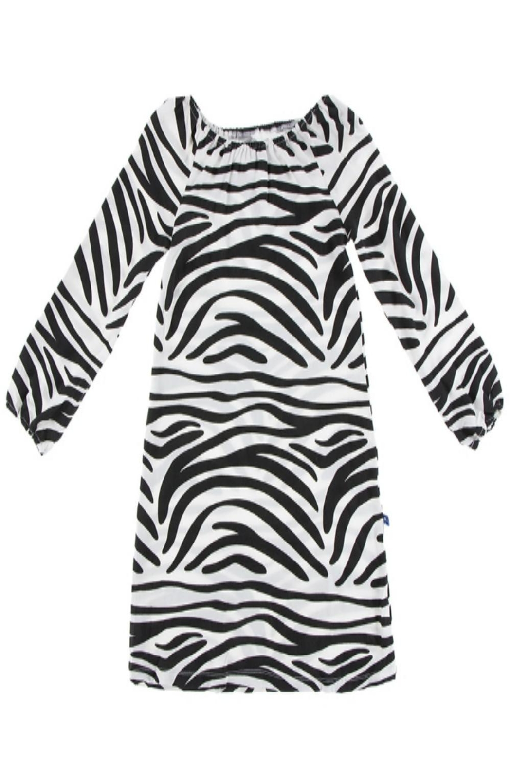 Kickee Pants Zebra Peasant Dress - Main Image