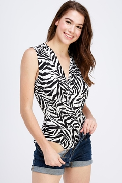 Dress Code Zebra Print Bodysuit - Product List Image