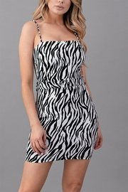 Sabora Zebra Print Dress - Product Mini Image