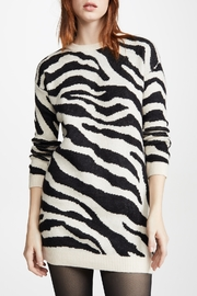 BB Dakota Zebra Print Sweater Dress - Product Mini Image
