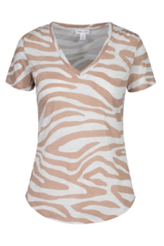 tribal  Zebra Print Tee - Product Mini Image
