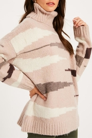 Listicle Zebra Print Turtleneck - Product Mini Image