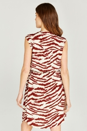 Apricot Zebra Print Zip Front Utility Dress - Front full body