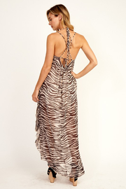 Olivaceous  Zebra Ruffle Maxi - Side cropped