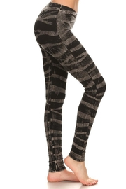 T Party Zebra-Stripe Grey-Knit Leggings - Product Mini Image