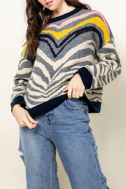 Thml Zebra Sweater - Product Mini Image