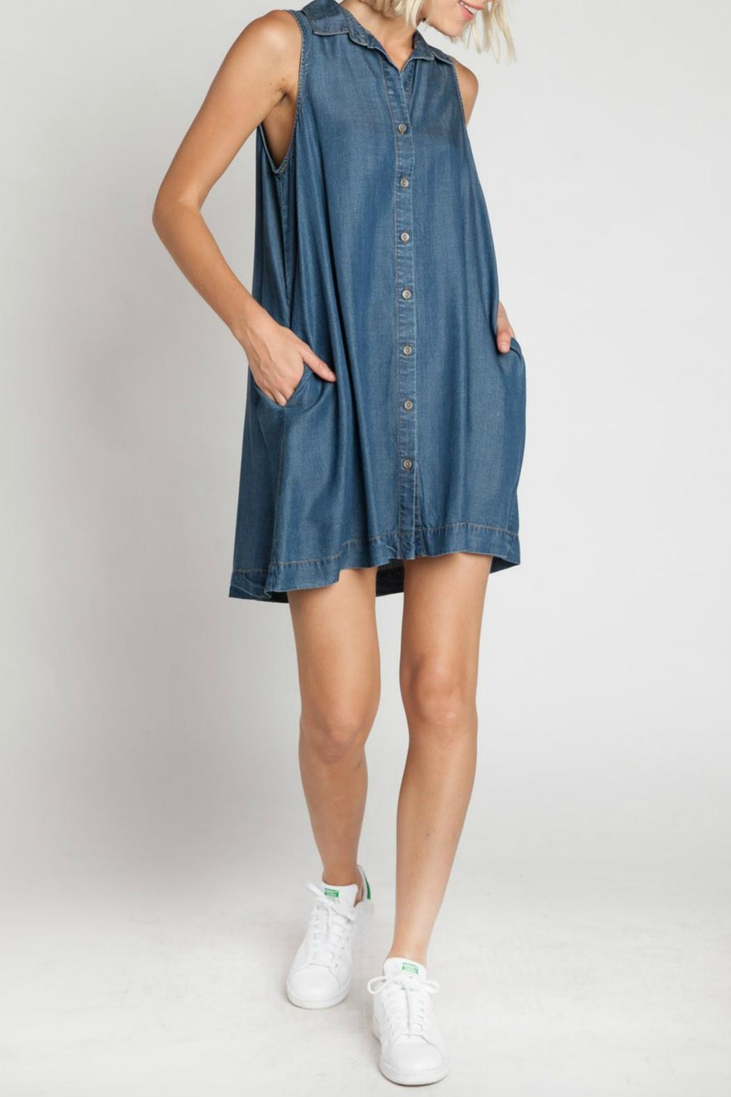 Velvet Heart Zelida Denim Dress - Back Cropped Image
