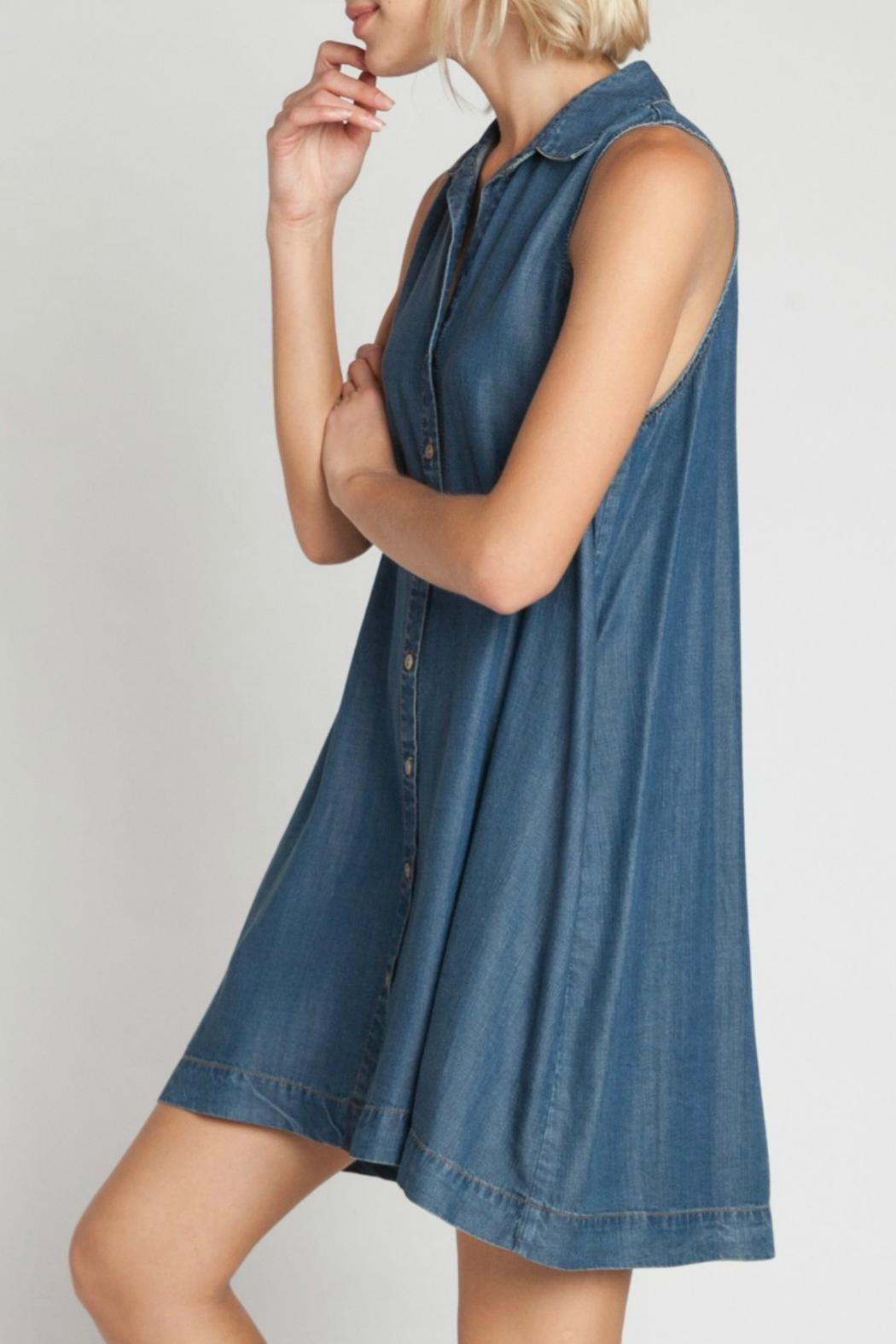 Velvet Heart Zelida Denim Dress - Front Full Image