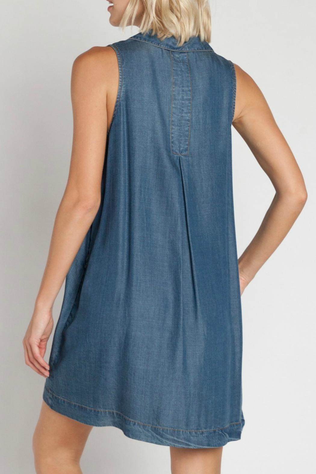 Velvet Heart Zelida Denim Dress - Side Cropped Image