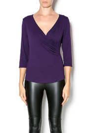 Zen Knits Deep Grape Blouse - Product Mini Image