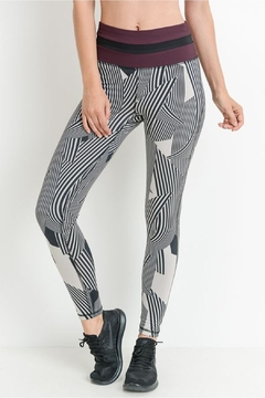 Mono B Zen Stripe Leggins - Product List Image