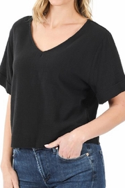 Zenana Black Croped Top - Product Mini Image