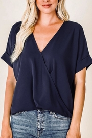 Zenana Blush Crossover Top - Front cropped