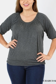 Zenana Charcoal Plus-Size Top - Front cropped