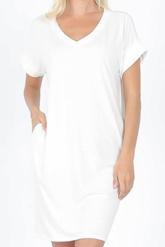 Shoptiques Product: Cuff Sleeve T-Shirt Dress