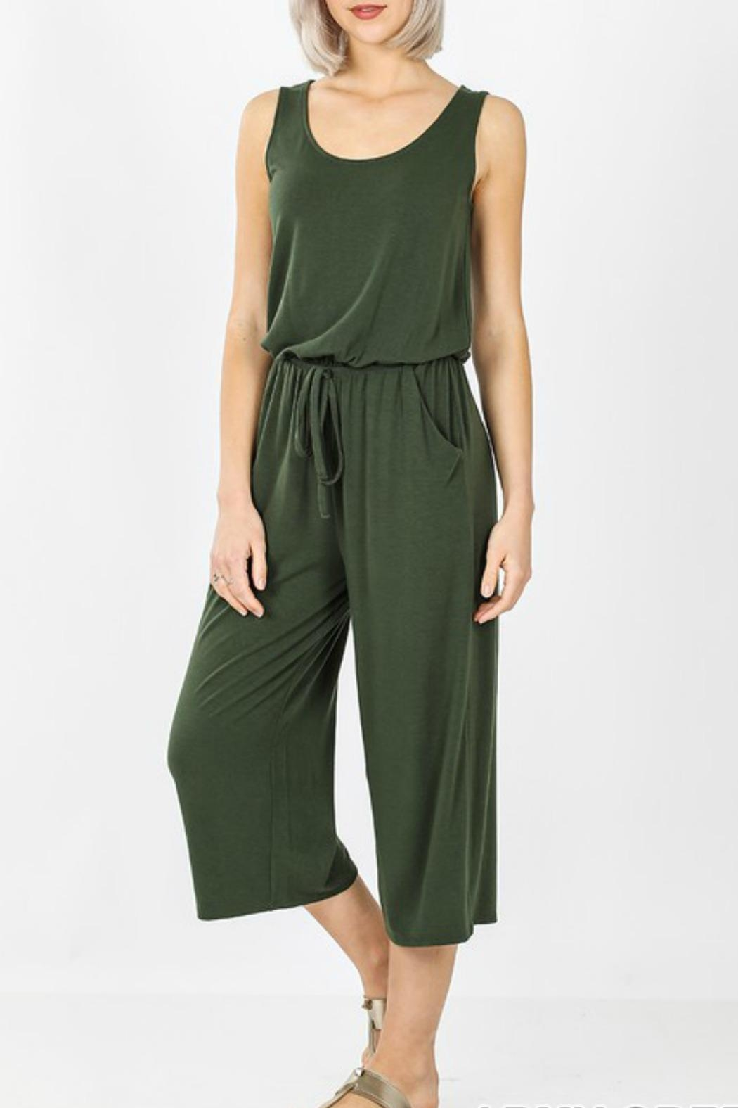 Zenana Dayna Knit Jumpsuit - Main Image