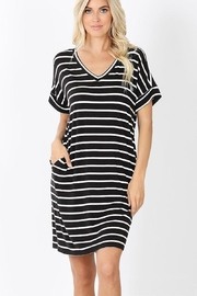 Zenana Everyday Pocket Stripes Dress - Product Mini Image