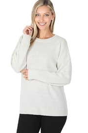 Zenana Everyday Waffle Sweater - Product Mini Image