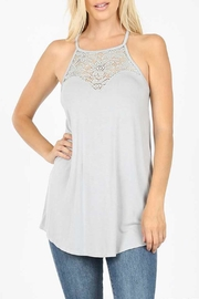 Zenana Grey Lace Tank - Product Mini Image