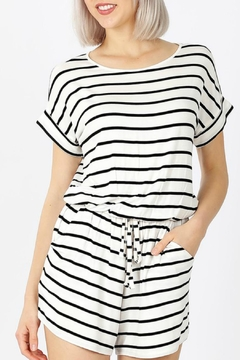 Zenana Holly Striped Romper - Product List Image