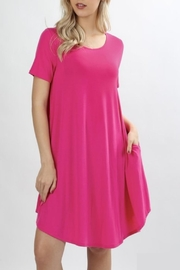 Zenana Hot Pink Dress - Product Mini Image