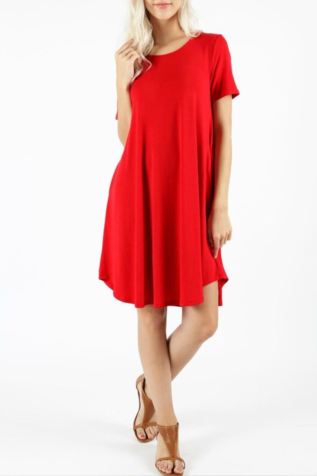 Zenana Krissi Red Dress - Front Cropped Image