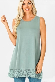 Zenana Lace-Detail Tunic Top - Front cropped