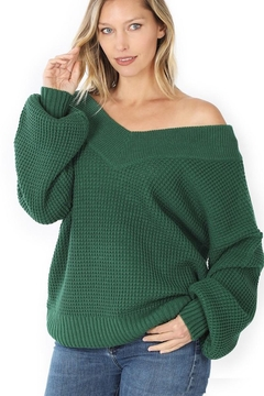Zenana My Comfy Sweater In Solid - Alternate List Image
