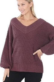 Zenana My Comfy Sweater In Solid - Front full body