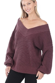 Zenana My Comfy Sweater In Solid - Front cropped