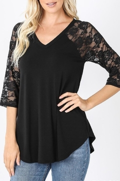 Shoptiques Product: Nela Lace-Sleeve V-Neck