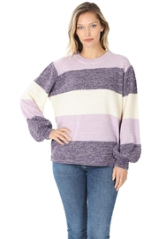 Zenana Not Your Average Stripe Sweater - Product Mini Image