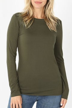 Shoptiques Product: Olive Essential Tee